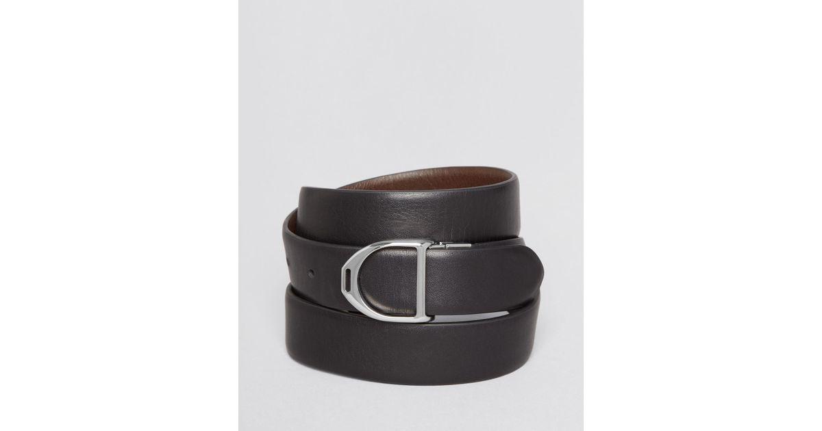 Lyst - Ralph Lauren Polo Reversible Calfskin Belt in Black for Men 6755f69cd90