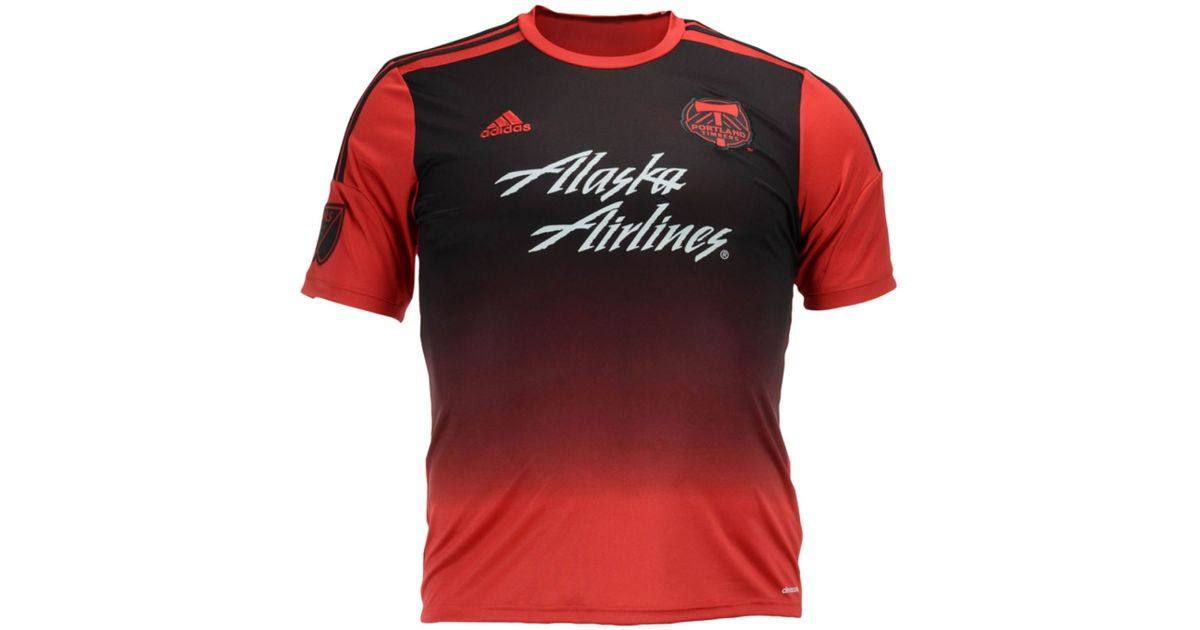 purchase cheap c27dd eae52 Adidas Originals Red Men's Portland Timbers Replica Jersey for men