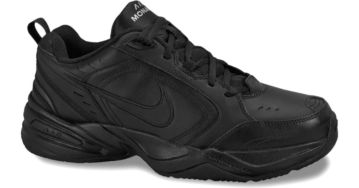 nike air monarch iv sneakers from finish line in black for