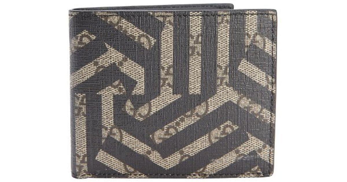 41a53262560 Gucci Beige And Ebony Caleido Print Gg Canvas Bi-fold Wallet in Black for  Men - Lyst