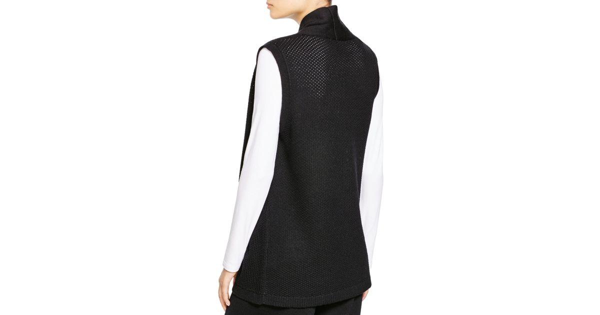 NWT $288 Eileen Fisher Ultrafine Merino  Dark Pearl Cowl Neck Boxy Sweater 1X