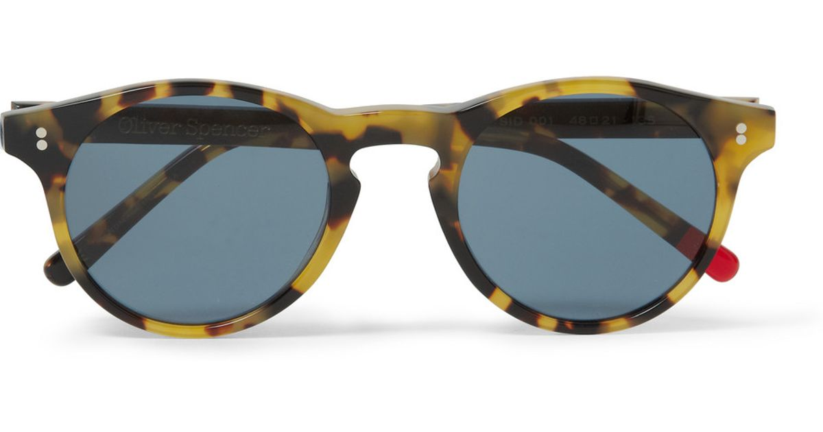 5880a4341bd7 Oliver Spencer Sid Round-Frame Tortoiseshell Acetate Sunglasses in Brown  for Men - Lyst