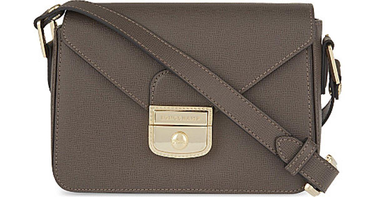 d56aadde2e38 Longchamp Le Pliage Heritage Cross-body Bag in Gray - Lyst