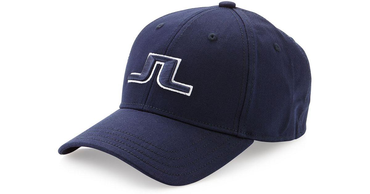 d57357c05 J.Lindeberg Blue Banji Flexi Twill Golf Hat Bluberry for men