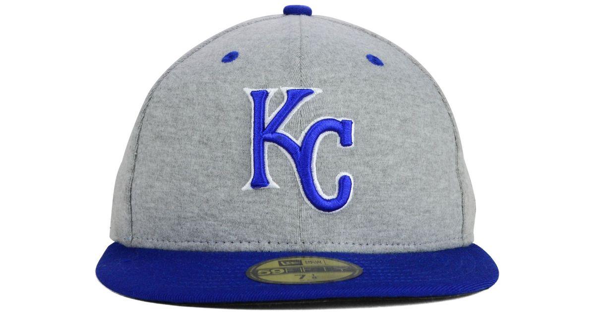 detailed look 01fea e2e88 KTZ Kansas City Royals Sweat Team Pop 59Fifty Cap in Blue for Men - Lyst