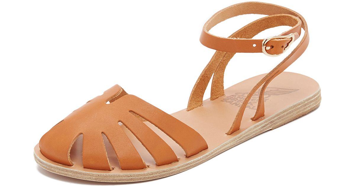 Aella Ancient Greek Flat Sandals Brown qUpSzMV