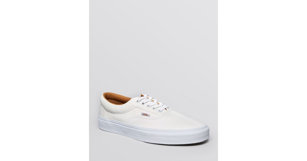 f22569455bd6a3 Lyst - Vans Era Premium Leather Lace-Up Sneakers in White for Men
