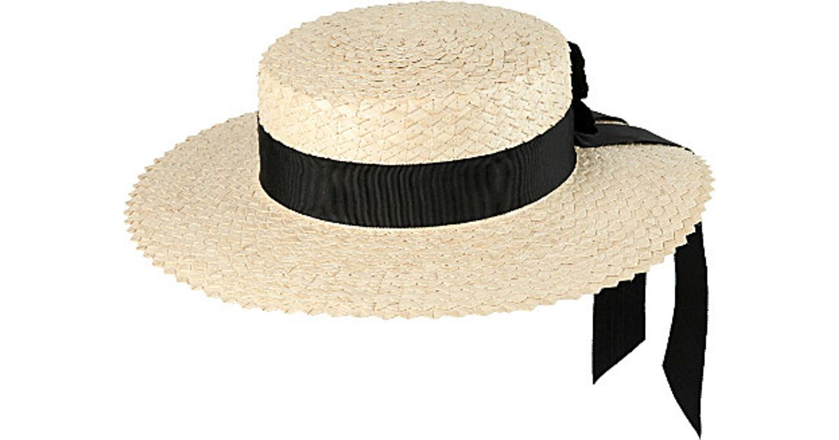 a2cac710 Mich Dulce Butterfly Madeline Scalloped Straw Hat in Natural - Lyst