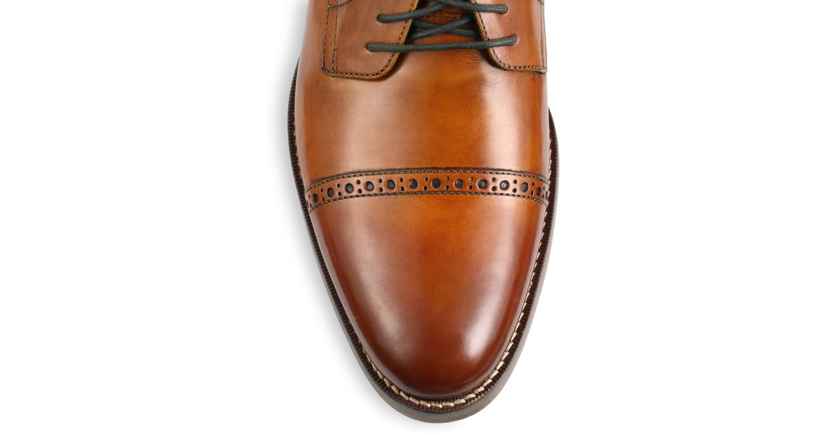 4ab5b850bf44 Lyst - Cole Haan Preston Cap-toe Lace-up Shoes in Brown for Men