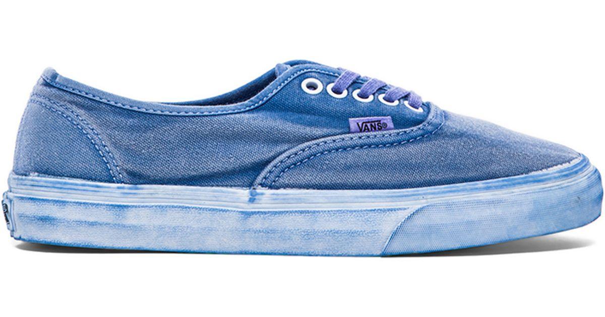 Original wählen Infos für anerkannte Marken Vans Blue California Authentic Over Washed for men