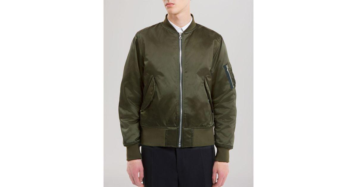 772cc968f Sandro Green Combat Bomber Jacket for men
