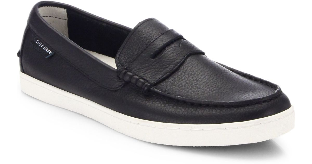 67a54ff5b54 Lyst - Cole Haan Pinch Weekender Leather Penny Loafers in Black for Men