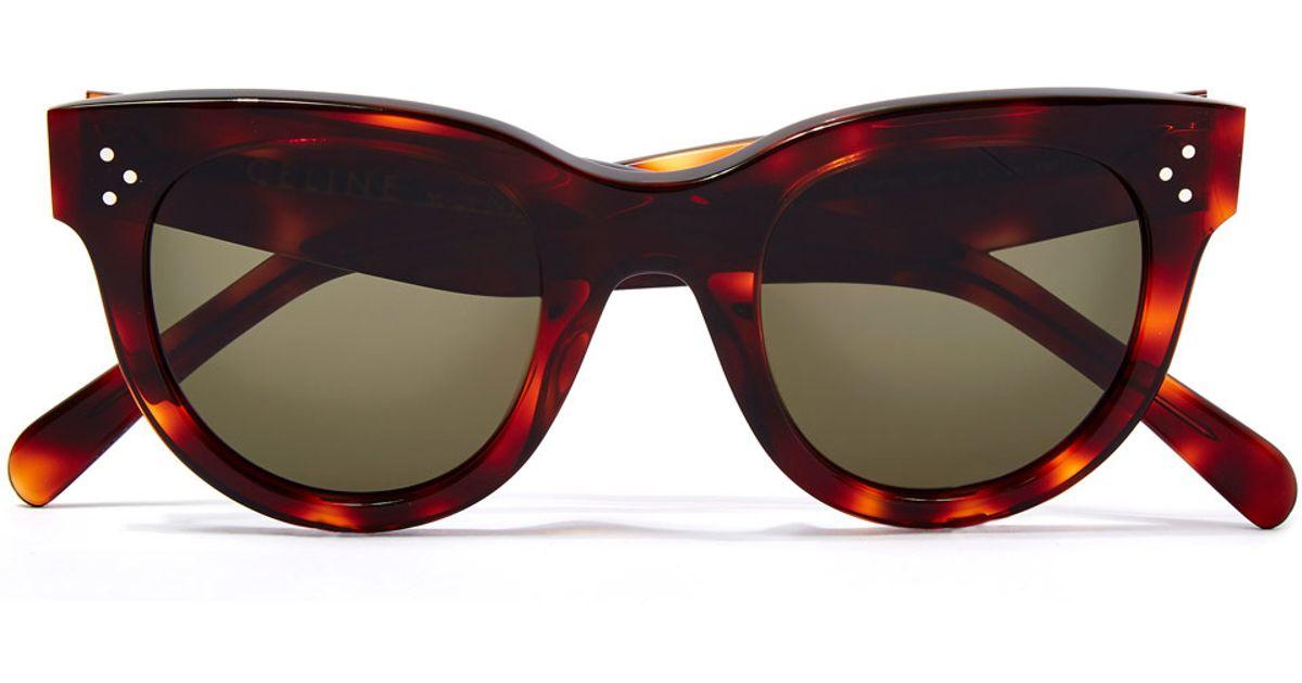 82677c661b50 Céline Brown Baby Audrey Sunglasses in Brown - Lyst