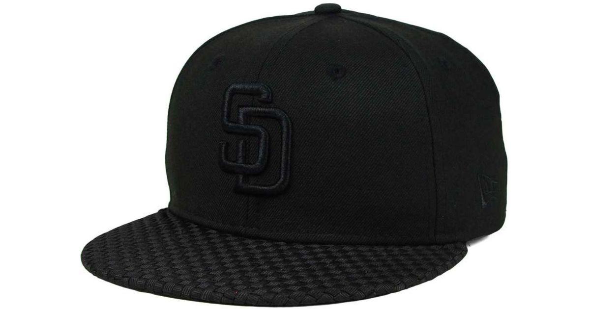 best service 60522 ca3e3 Lyst - KTZ San Diego Padres Wovenrine 59fifty Cap in Black for Men