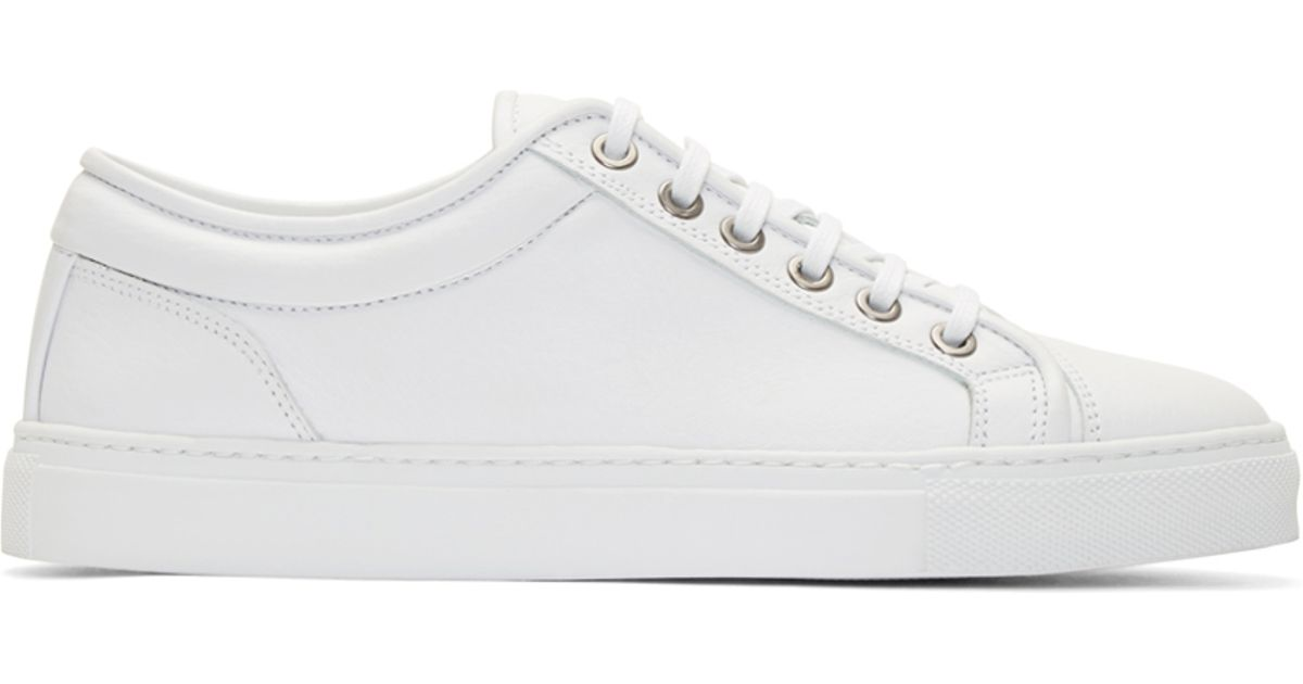 White Leather Low 1 Sneakers for Men - Lyst