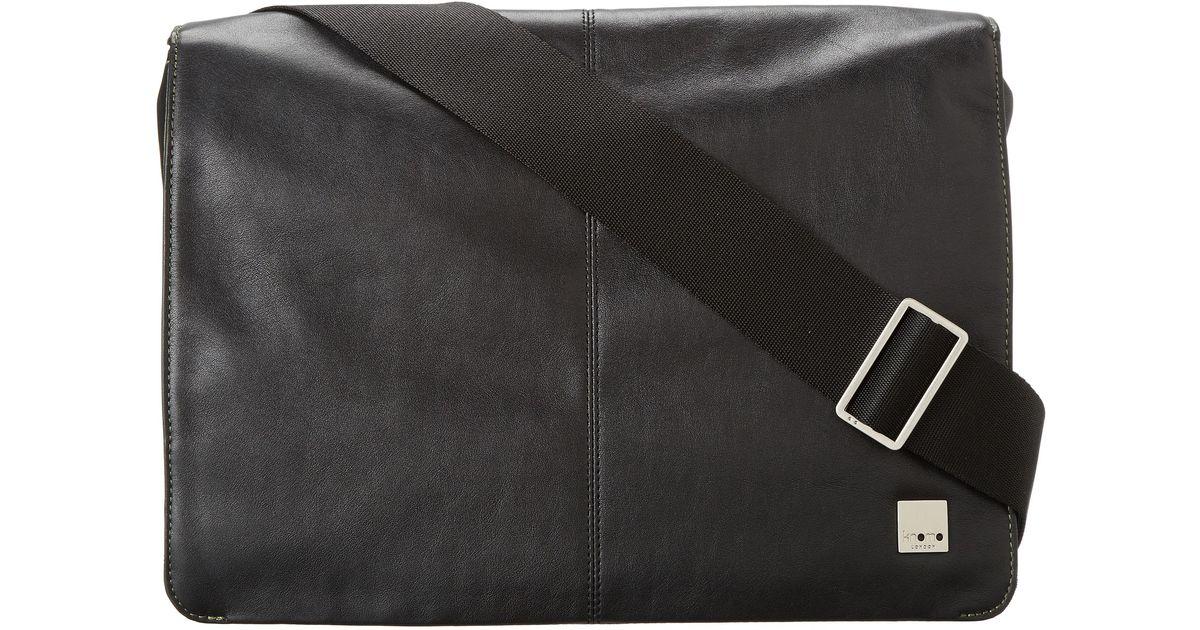 897ec9e5b7be Lyst - Knomo Kinsale Small Messenger Laptop Bag in Black for Men