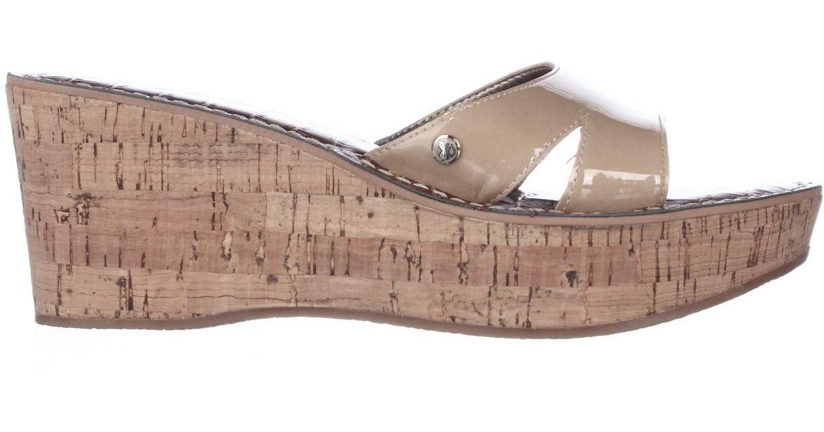 d124f1259713 Lyst - Sam Edelman Reid Platform Slide Cork Sandals in Natural