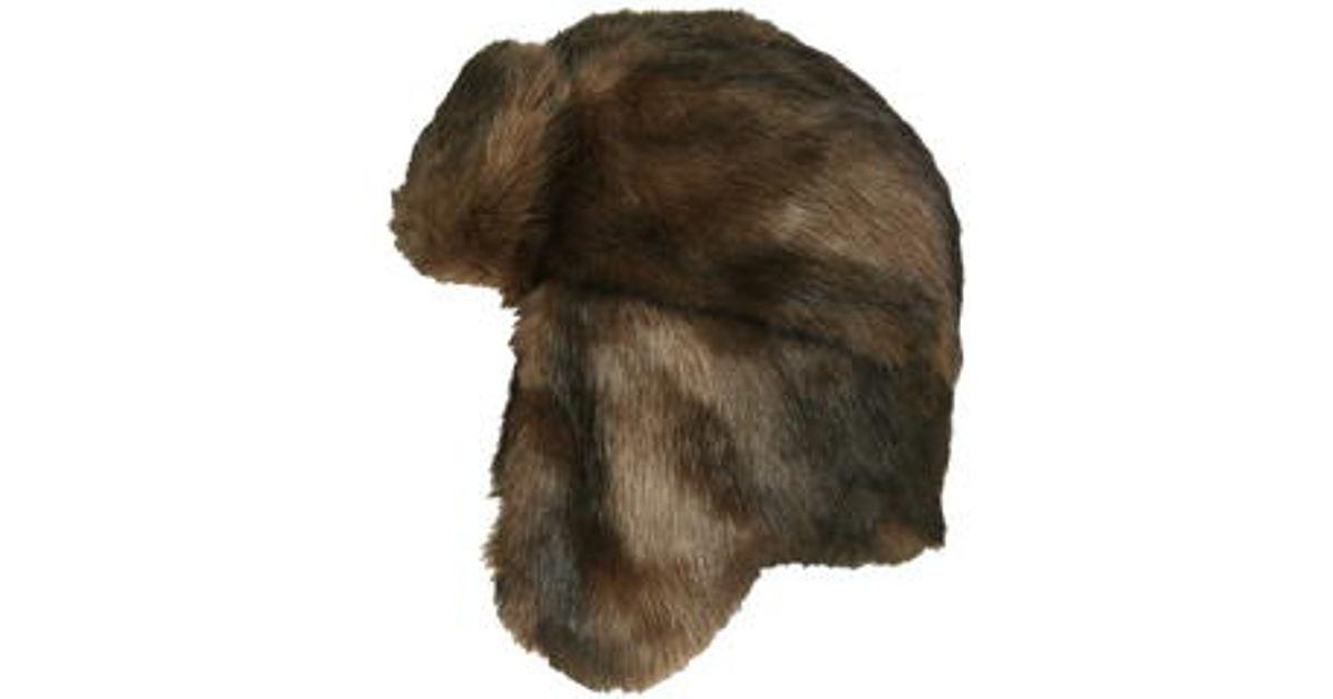 c38eb8d307e Lyst - TOPSHOP Faux Fur Bear Trapper Hat in Brown