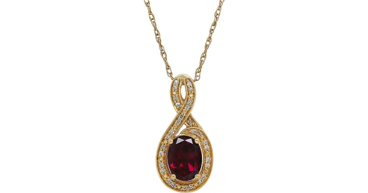 lord garnet and 14k yellow gold pendant