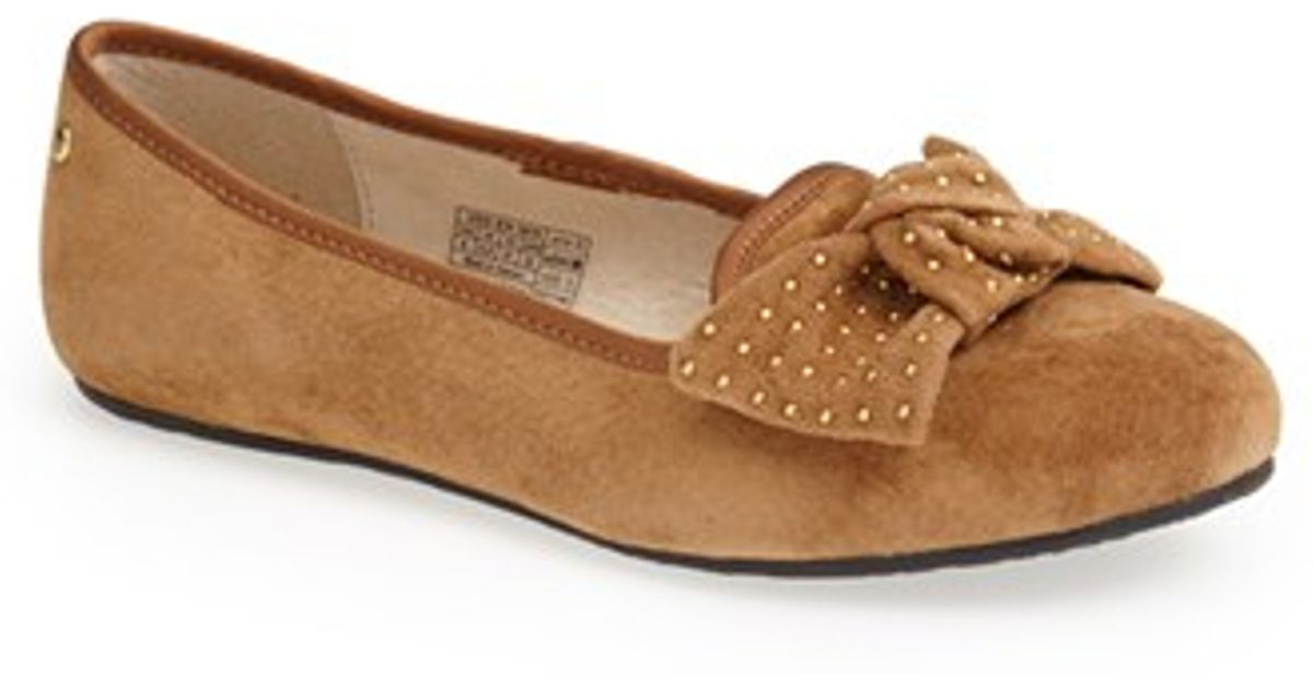 b42037276cc UGG Brown Ugg 'alloway -studded Bow' Flat