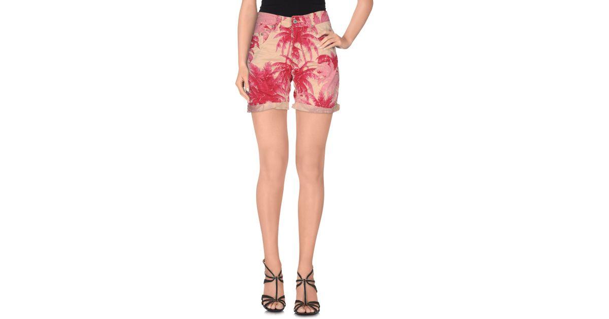 86f8f16ef90ebb Please - Purple Bermuda Shorts - Lyst