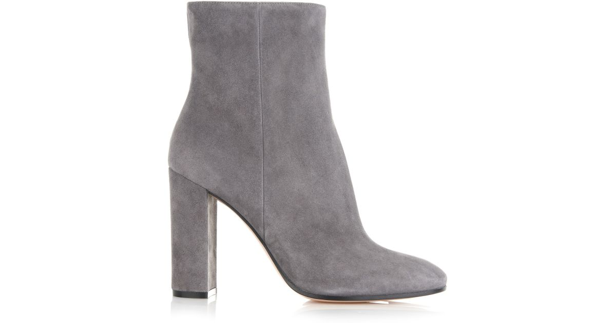 ce6d1833a19 Gianvito Rossi Gray Rolling Suede Ankle Boots