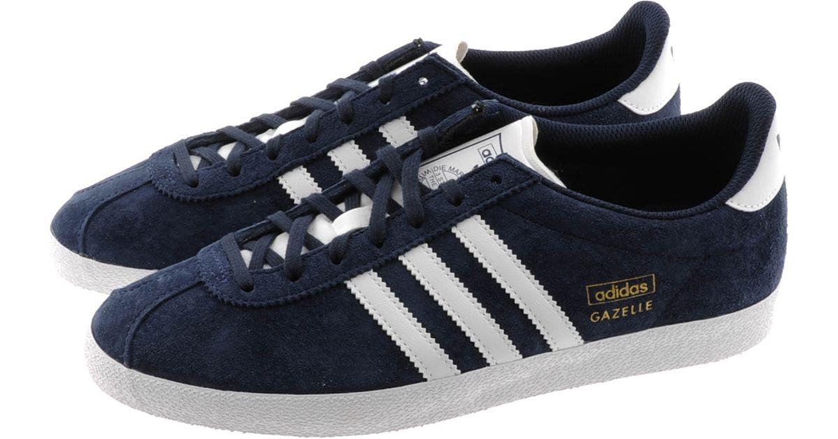 timeless design 82b73 07e59 Adidas Originals Gazelle Og Trainers Dark Indigo in Blue for