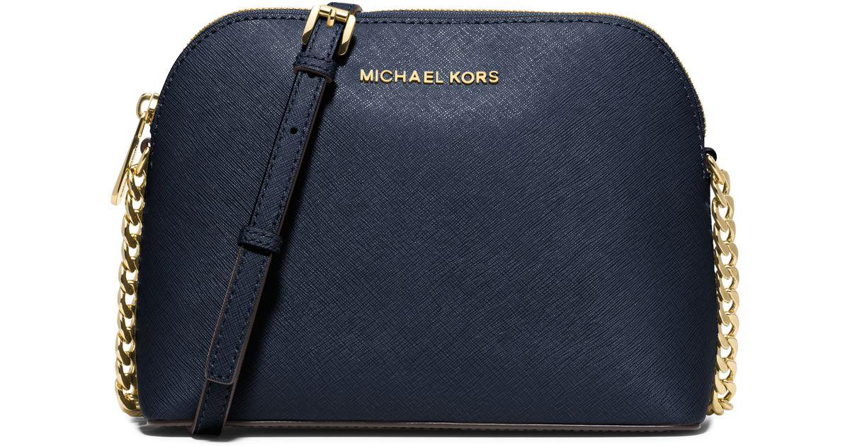 8ed2d4ea9863 Lyst - MICHAEL Michael Kors Cindy Large Saffiano Leather Crossbody in Black