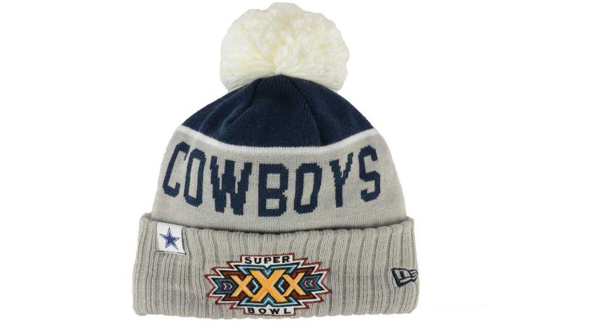 c3def4c66 KTZ Dallas Cowboys Super Bowl Sport Knit Hat in Gray for Men - Lyst