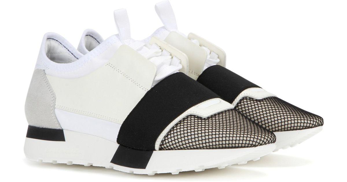 Balenciaga Race Runner Leather Sneakers