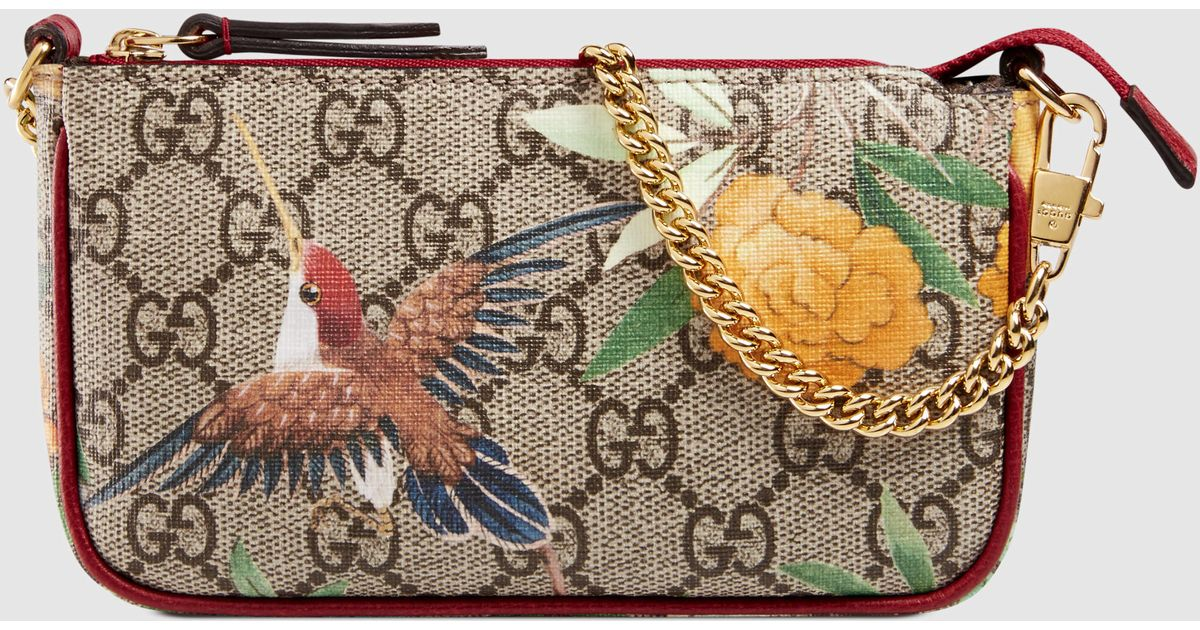 b7abed9ff27 Lyst - Gucci Tian Gg Supreme Mini Bag