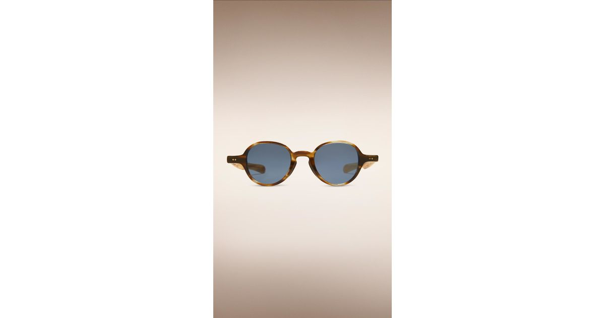 0152470b1be Lyst - Burberry The Scholar Round Frame Sunglasses Dark Brown Horn in Brown  for Men