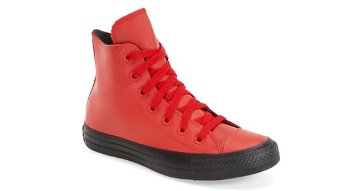 2fa513dae7065b Lyst - Converse Chuck Taylor All Star Rubber High Top Sneaker in Red