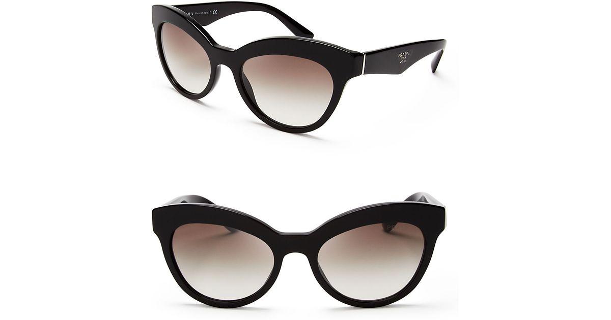 a3fca7ede974 Lyst - Prada Heritage Cat Eye Sunglasses in Black