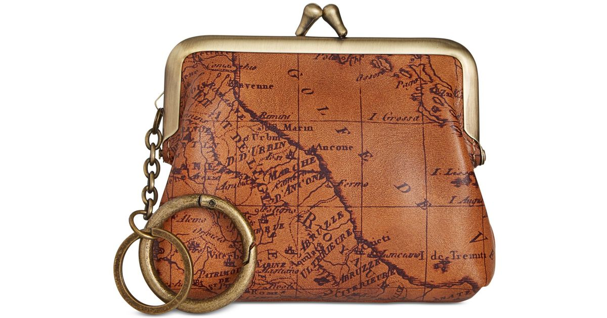 0583fe0a9f37 Patricia Nash Signature Map Large Borse Coin Purse in Brown - Lyst