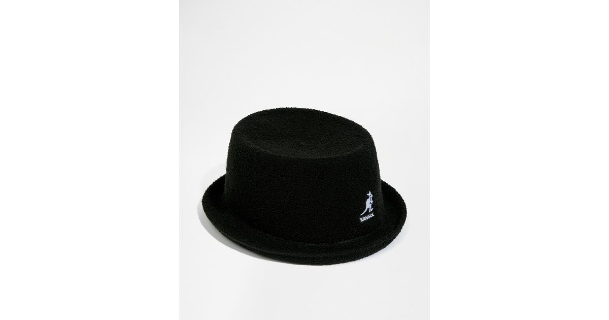 Lyst - Kangol Bermuda Mowbray Pork Pie Hat in Black for Men dcf33a20264