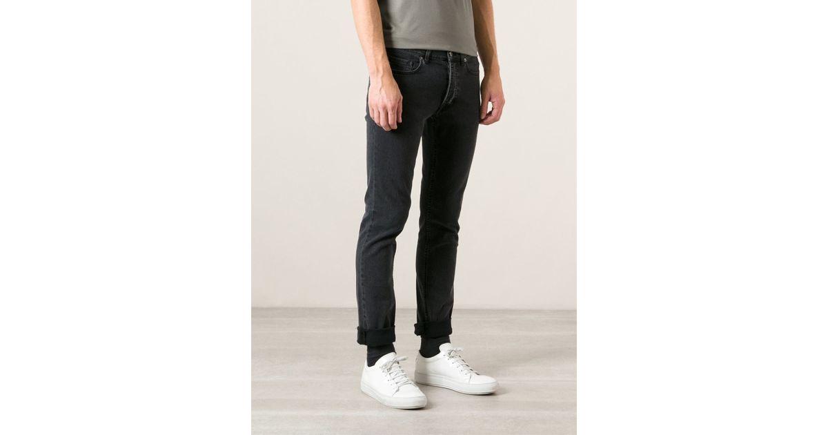 Acne Straight Leg Jeans in Black for Men   Lyst