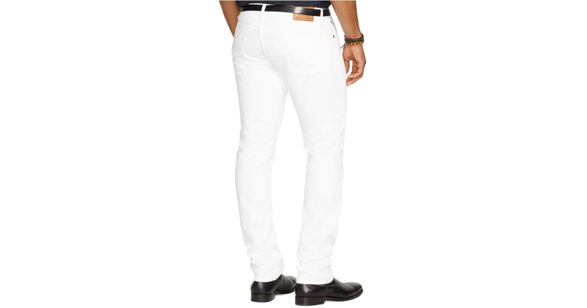 a7dec5af Polo Ralph Lauren Varick Slim-straight Hudson White Jeans for men