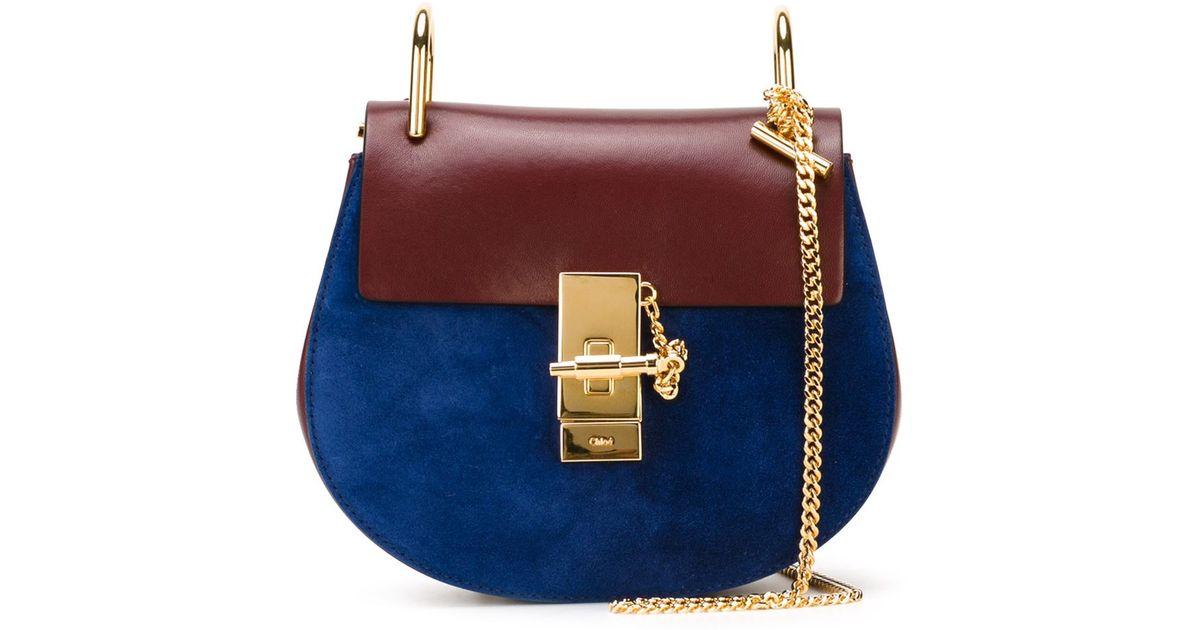 15fc4dd0f Chloé 'Drew' Crossbody Bag in Blue - Lyst