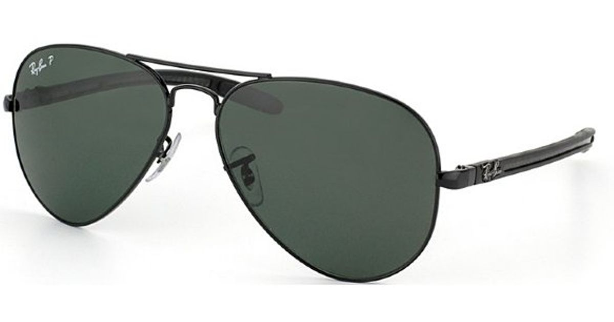 3ee77f3d5b ... promo code for lyst ray ban ray ban rb8307 carbon fibre aviator 002 n5  polarized metal