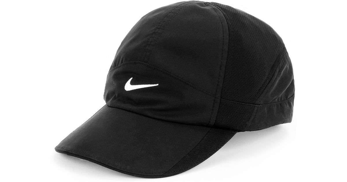 176b20516a906 ... shop lyst nike featherlight 2.0 dri fit sports cap in black 8bfb3 f83a3