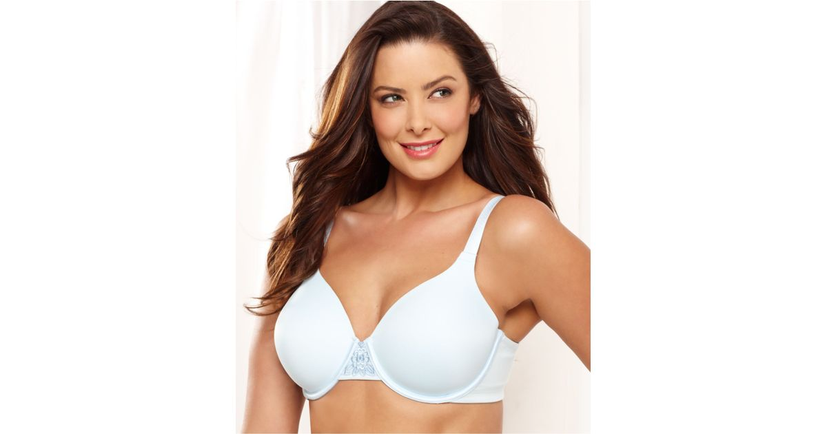 5c61a8295fa12 Lyst - Vanity Fair Back Smoother Full Figure Contour Bra 76380 in Blue