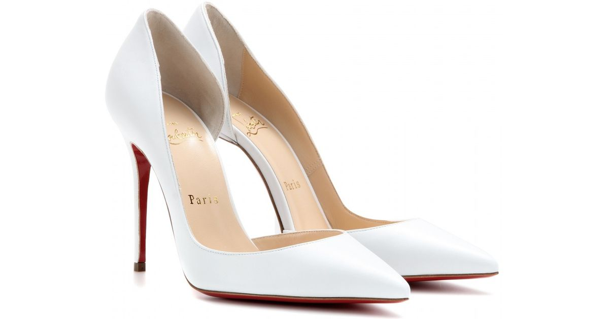 sports shoes 92b01 d0edd Christian Louboutin White Iriza 100 Leather Pumps
