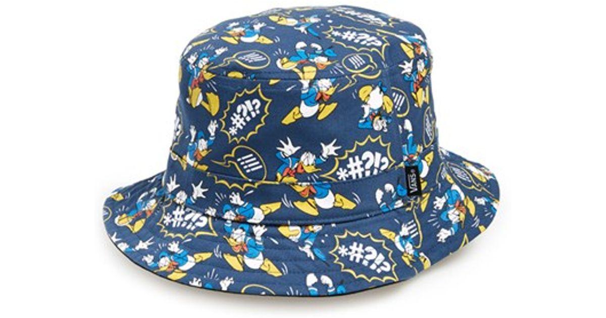 Lyst - Vans   X Disney - Donald Duck  Reversible Bucket Hat f0e1e51dd6ec