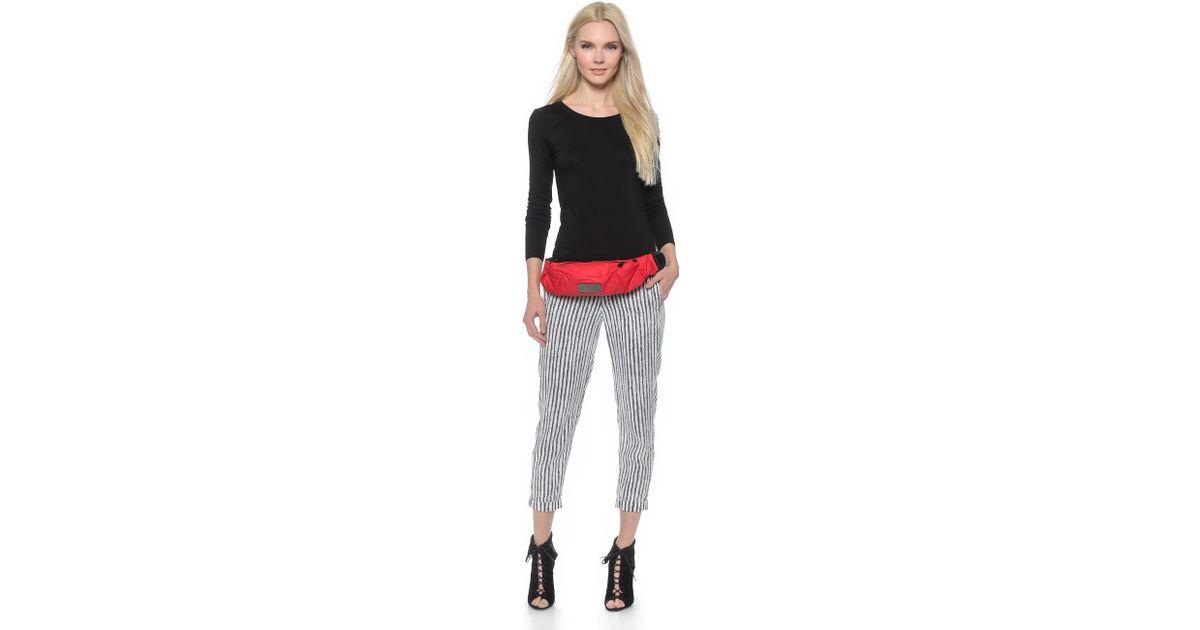 Lyst - adidas By Stella McCartney Running Cycling Bum Bag - Scarlet Red in  Red ce1ab8f56ff51