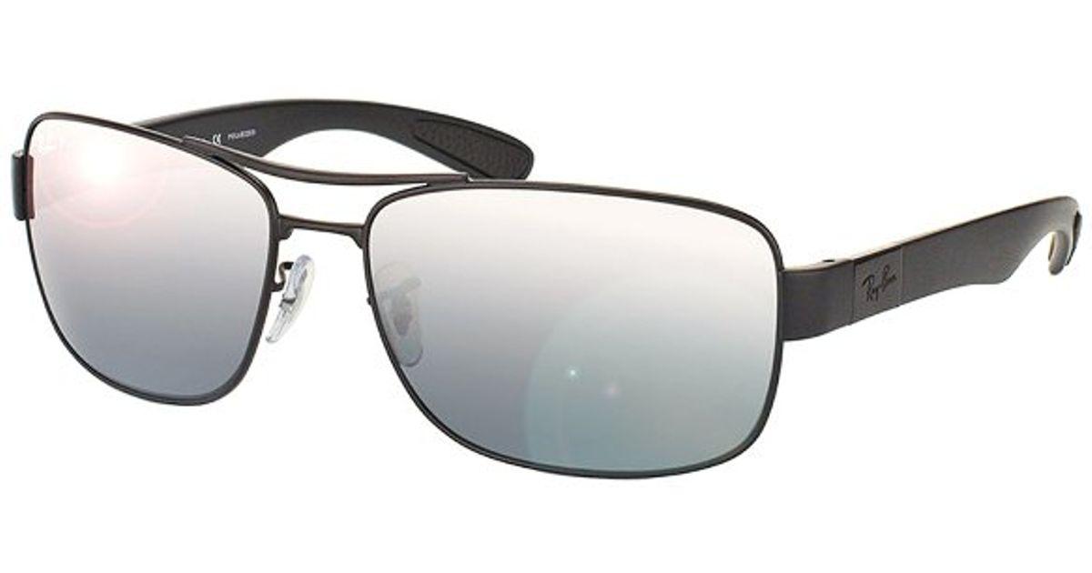 bf3e5ed2bd Lyst - Ray-ban Rb 3522 006 82 Matte Black Aviator Metal Sunglasses-61mm in  Metallic