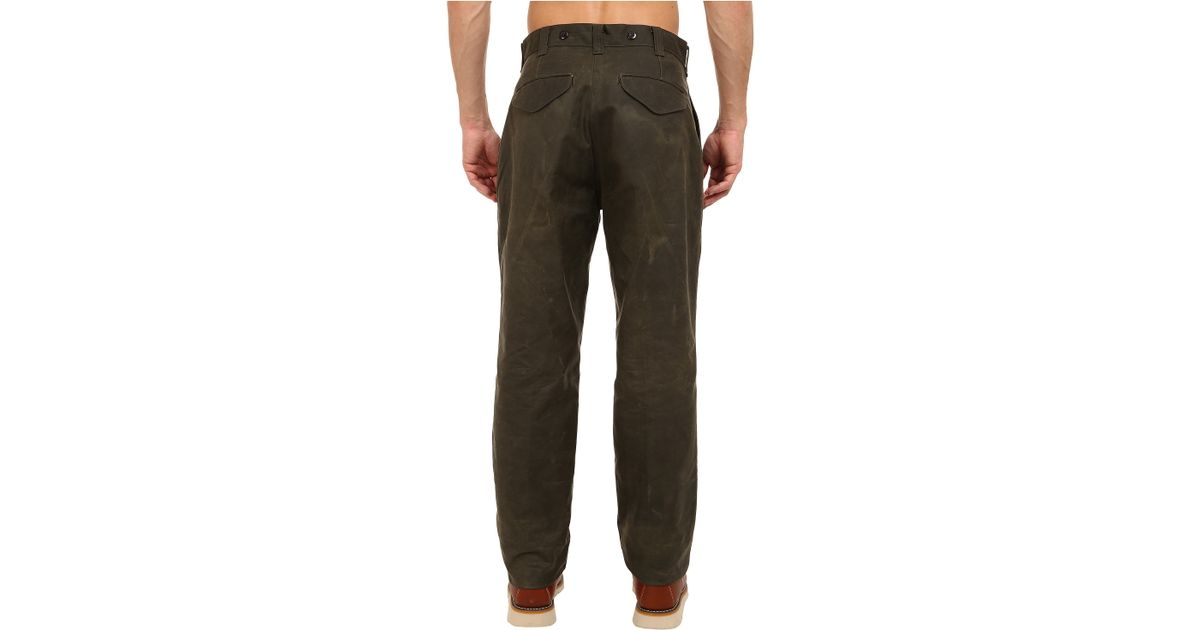 Filson single tin pants dry finish