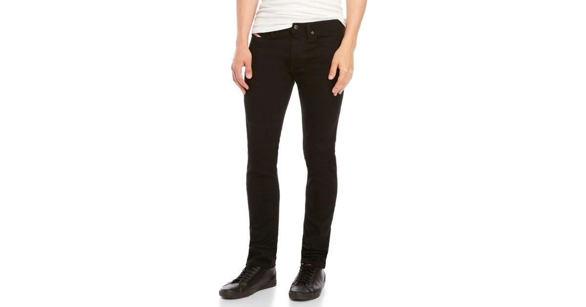 f36b40ad DIESEL Shioner Slim Skinny Jeans in Black for Men - Lyst