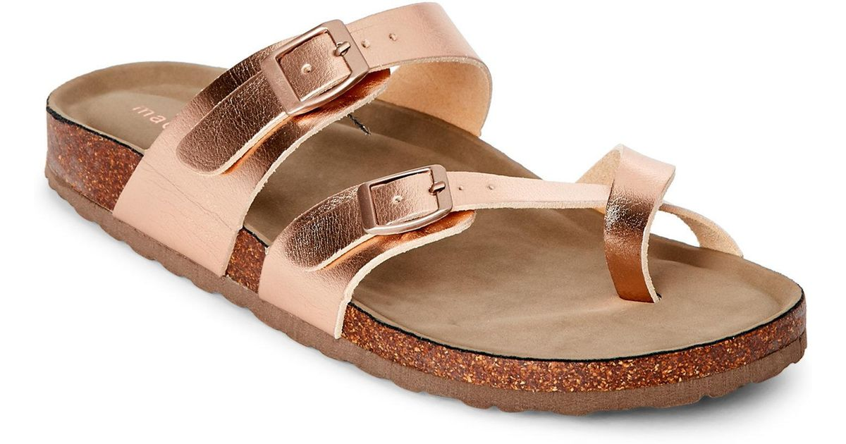 0d742764047 Madden Girl Multicolor Rose Gold Bryceee Footbed Sandals