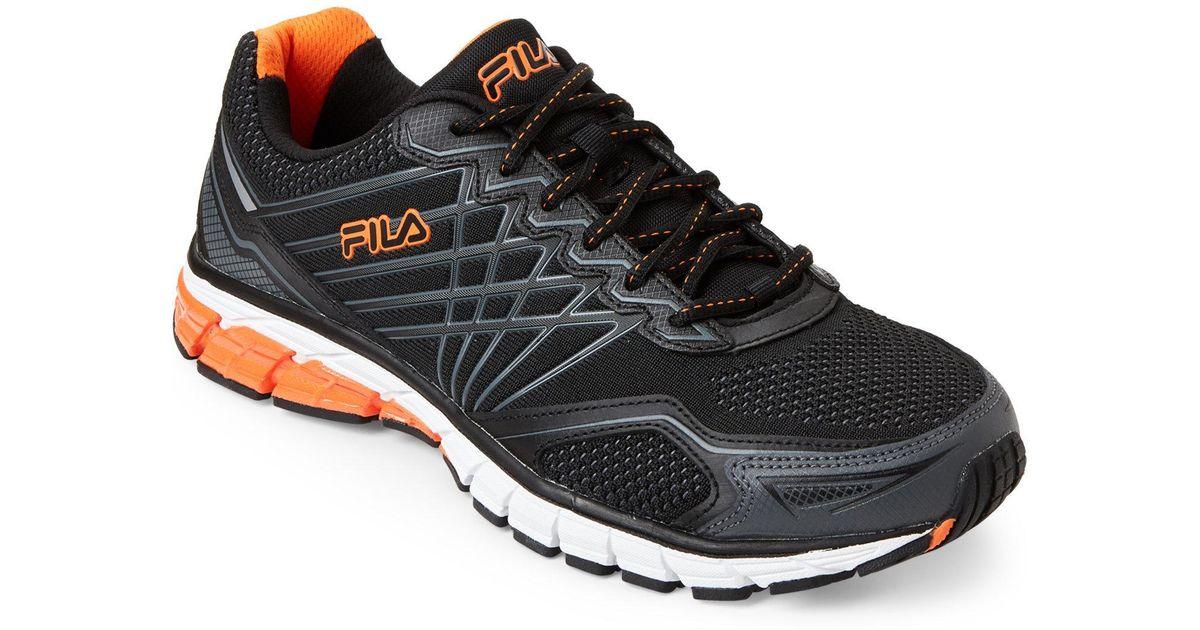 oficjalne zdjęcia eleganckie buty 2018 buty Fila Black & Orange Steel Strike 5 Energized Running Sneakers for men